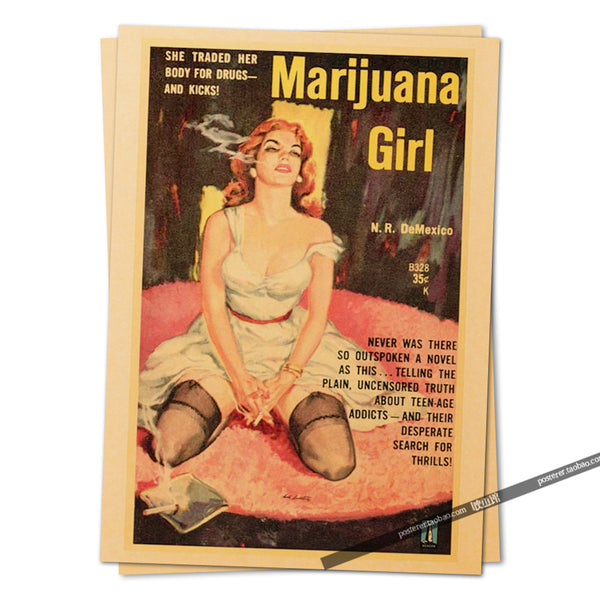 1969 Vintage Marijuana Girl Movie Poster