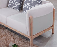 Modern Sofa Set, Hemp Fabric