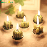 6Pcs Cactus Candles