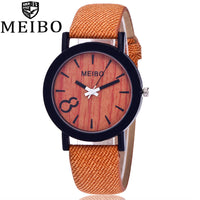 Casual Wooden Watch with leather band