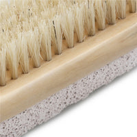 Natural Boar Bristle Body Foot Brush with Wooden Handle