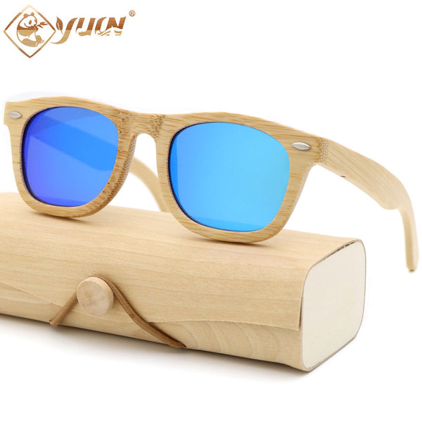 Small Bamboo Frame Sunglasses