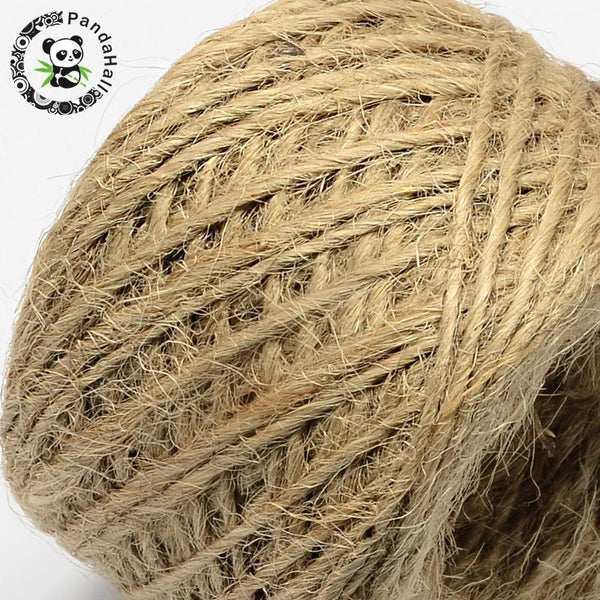 Hemp Cord Twine String, 1 50m/roll;