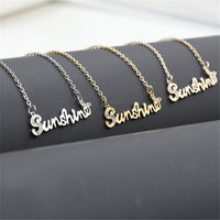 Sunshine metal necklace