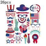 Festival Supplies Happy 4th of July Photo Props Booth Props DIY Kit for America USA Independence Day Party Event Decorations