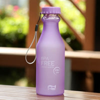 Unbreakable Bottle For Water Plastic Scrub Sports Shaker Kids Crystal My Drink Bottle Portable Rope 550ml Travel Outdoor Tea Cup