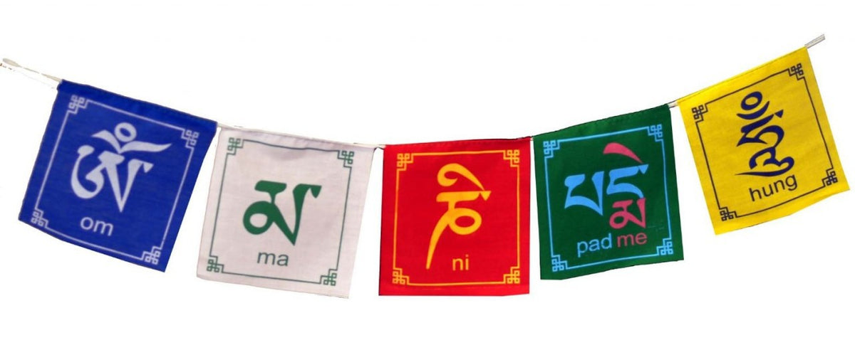 Significance of Tibetan Prayer Flag Colors – Ganesha Store