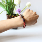 Bracelet - Red Sanders with Coconut Shell >S925 >Cloisonne