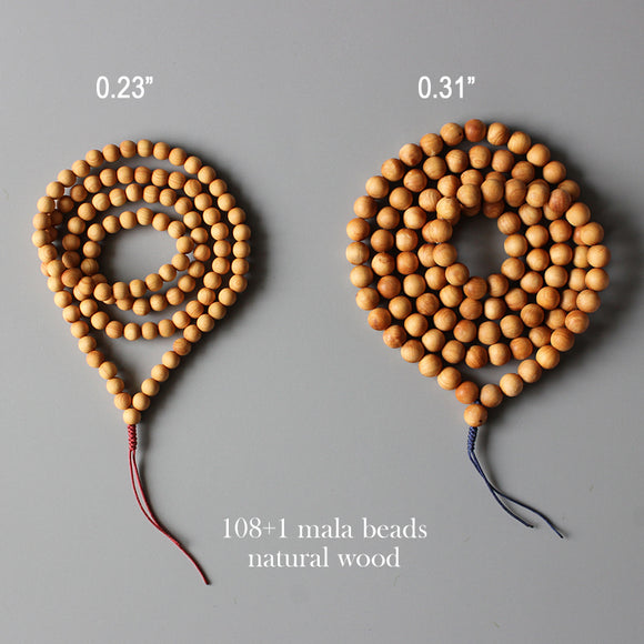 Necklace Mala 108 Beads - Wood