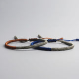 Blessed Lucky Knots Brown/Blue/Grey - Handmade by Tibetan Monks
