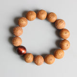 Buddha Eye Bracelet - Bodhi Seed with Tiger Eye