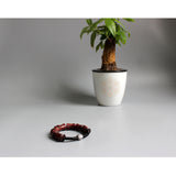 Bracelet - Red Sanders Wood with Coconut Shell