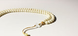 Necklace Tibetan - Ivory White Tagua Nut with Amazonite
