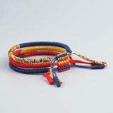 Blue/Red/Yellow Bracelet for Luck - Tibetan Lama Handmade
