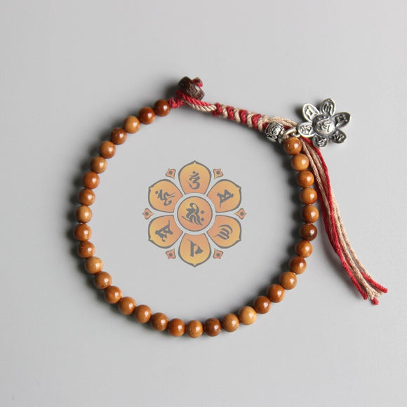 Purity of the Mind - Lotus Om Mani Padme Hum Bracelet