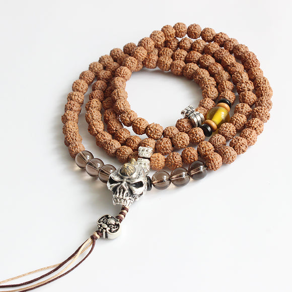 Necklace 108 Mala Beads Kapala - Rudraksha