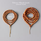 108 Mala Beads - Handcraft Wood Necklace