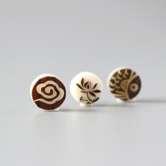 Beads Fish & Flower & Cloud - Tagua Nut