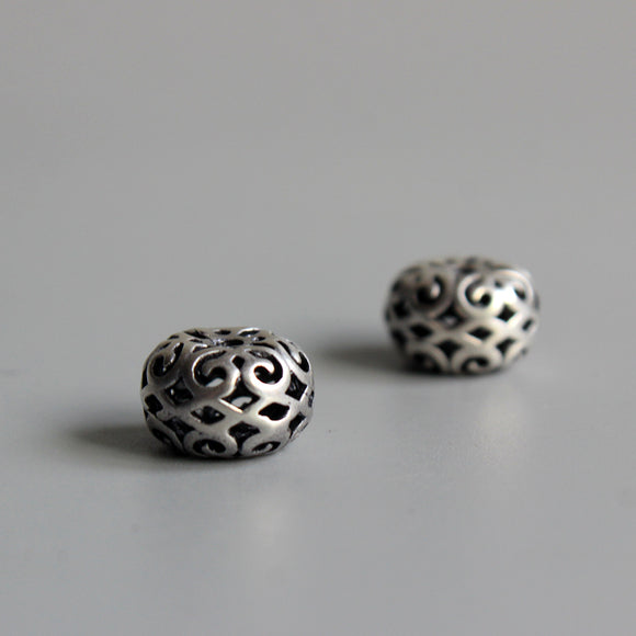 Beads Tibetan  - White Copper