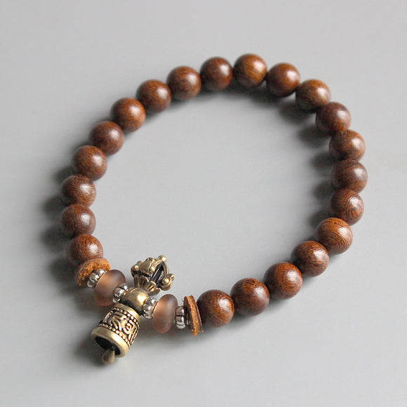 Bracelet Ghanta - Wooden with Copper