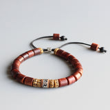 Bracelet Om Mani Padme Hum - Wooden with Yak Bone