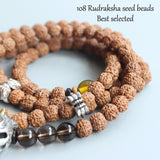 Necklace 108 Mala Beads Skull - Rudraksha