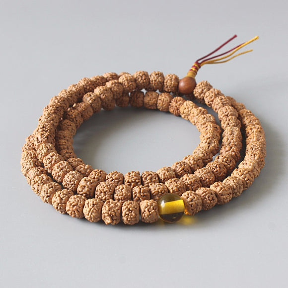 Pray & Love Rudraksha 108 Mala Beads