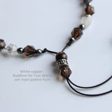Your Guide To Buddhism - Smoky & Pure Quartz with 925 SIlver Pendant