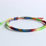 Chakra Hand Braided Knot Bracelet by Monks - Jingang Knot