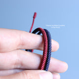 Couple Loyalty Bracelet - Hand Braided by Tibetan Monks- JIngang Knot