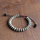Sun & Moon & Cross Bracelet - Yak Bone with Coconut Shell