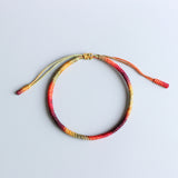 Colorful Jingang Knot Bracelet - Handmade by Monks