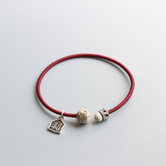 Lucky Charm- Red Hand Braided Rope