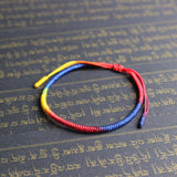Rainbow Bracelet - Hand Braided Knot by Monks