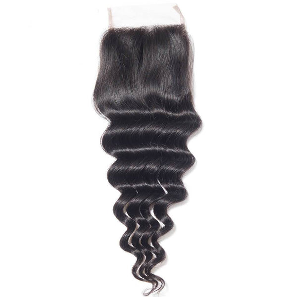 Deep Wave Lace Closure - HookedOnBundles Virgin Hair