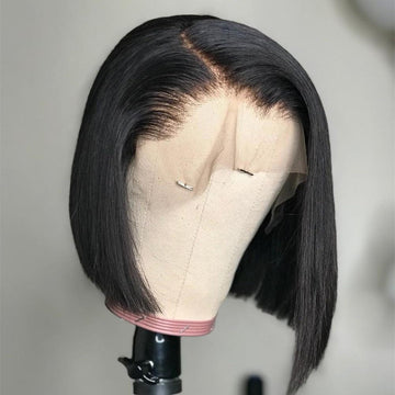 Plush Silky Straight Lace Front Bob Wig