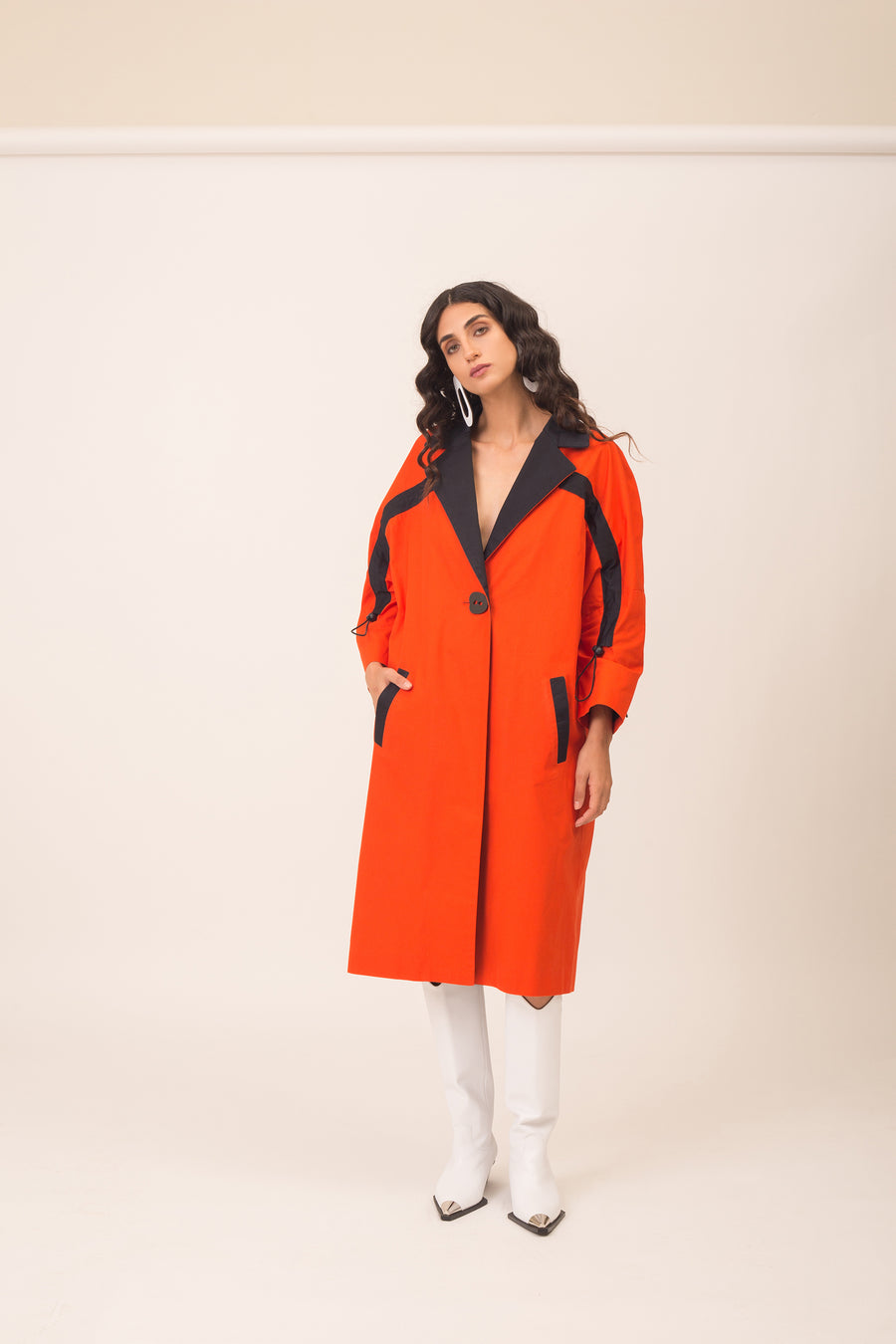 Line Orange Tailored Coat - OFIR IVGI