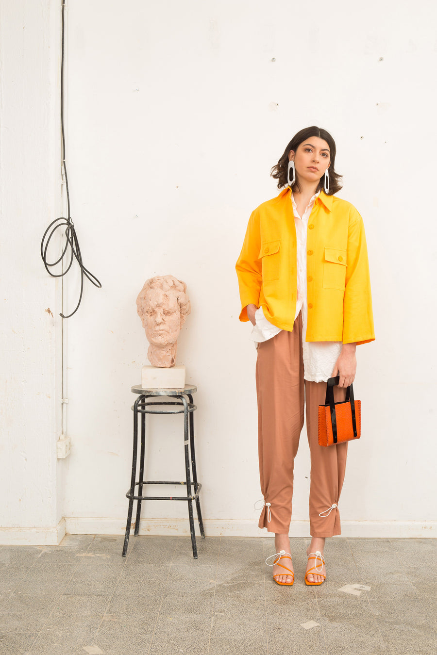 Yellow Button Down Jacket - OFIR IVGI