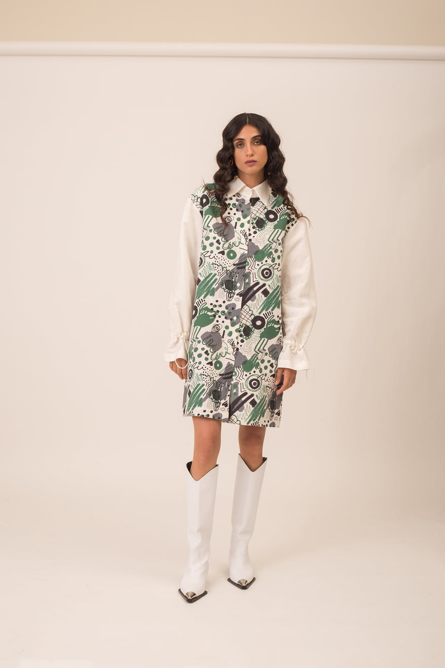 Katharine green buttoned dress