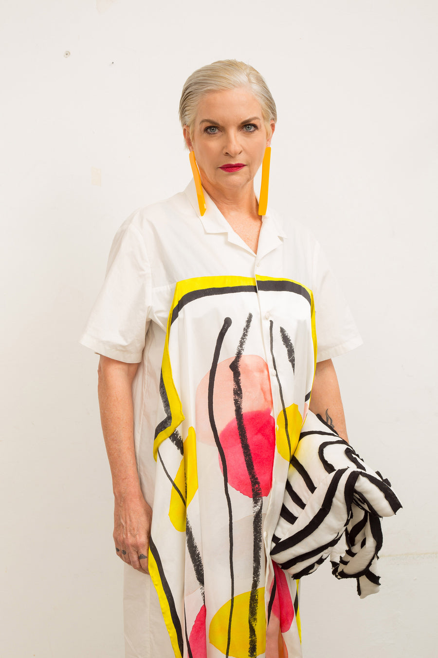 Abstract Print Scarf Dress - OFIR IVGI