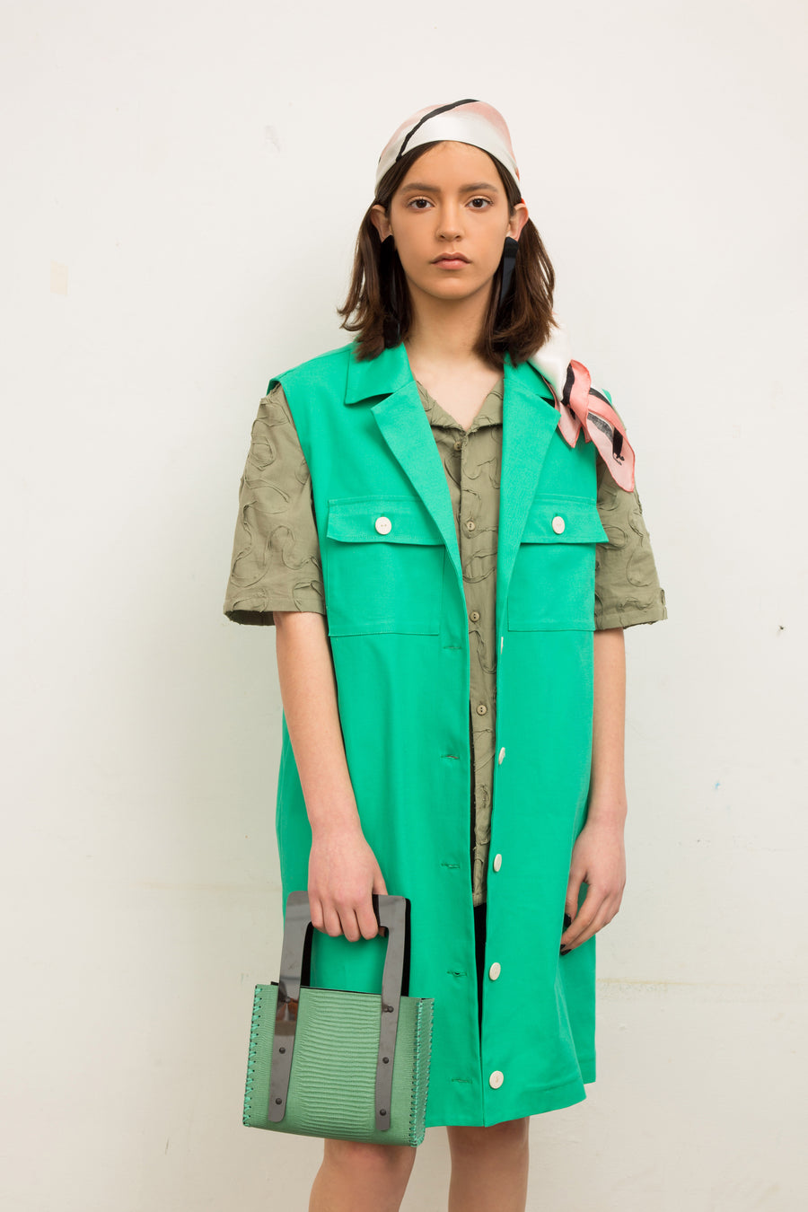 Green Tailored Vest - OFIR IVGI