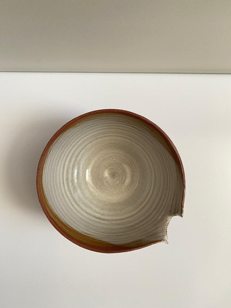 CUT OUT MEDIUM CERAMIC BOWL - OFIR IVGI