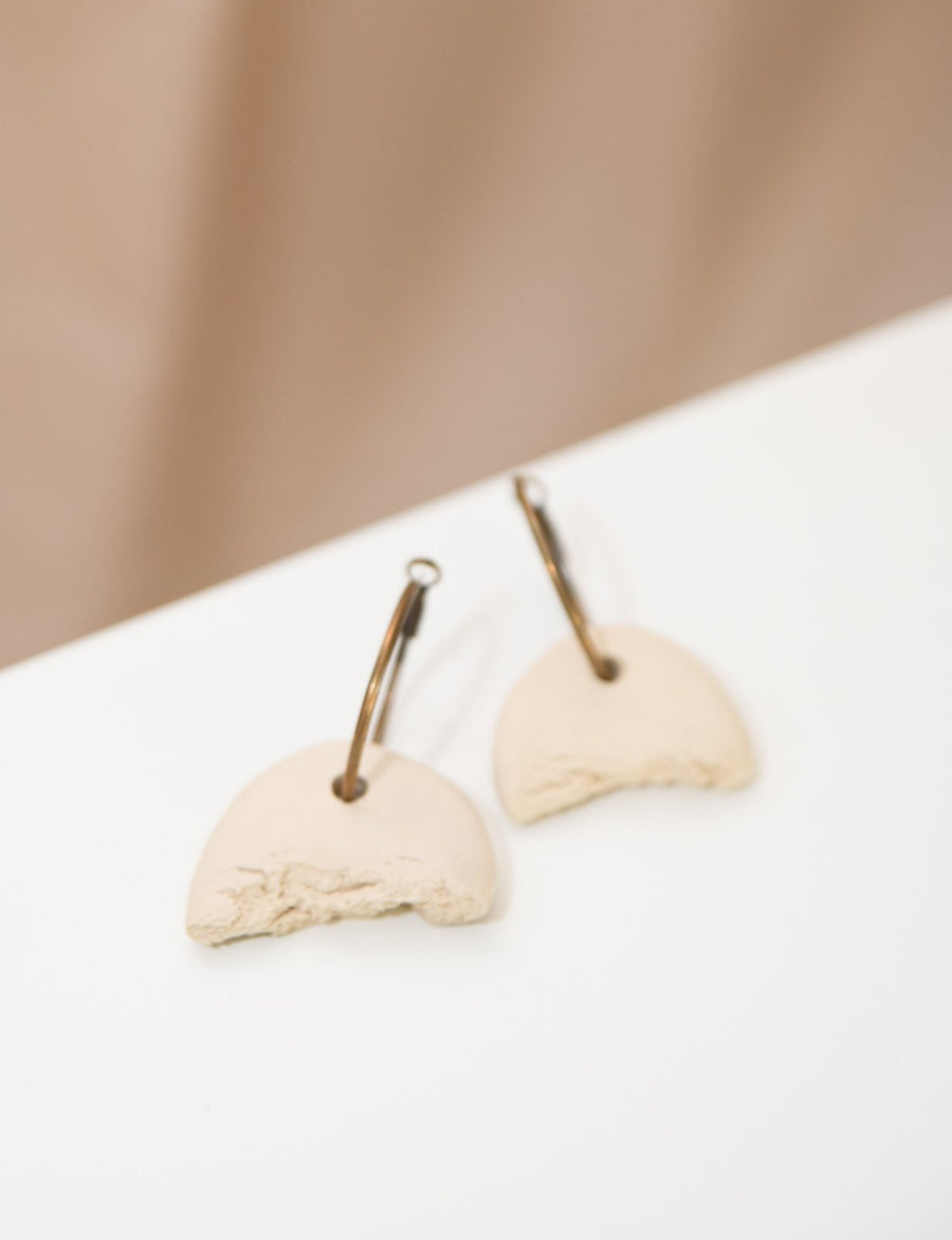 Natural Crack Shape Hoop Earrings - OFIR IVGI