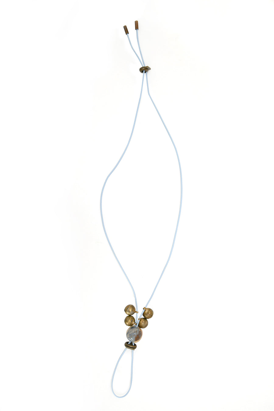 Light Blue Rubber Necklace - OFIR IVGI
