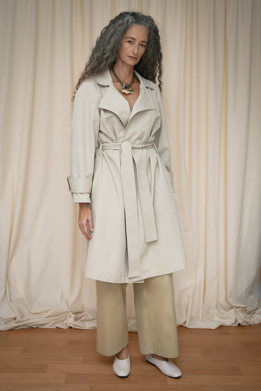 Beige Trench Coat - OFIR IVGI