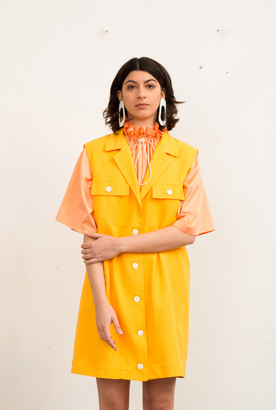 Yellow Tailored Vest - OFIR IVGI