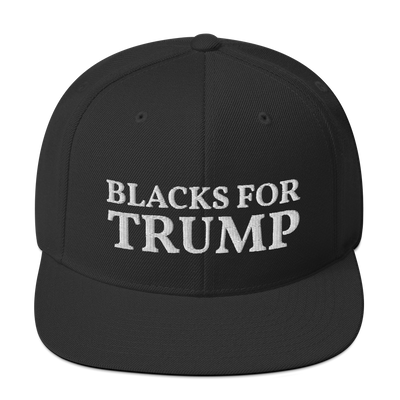 Blacks for Trump (Snapback Hat)