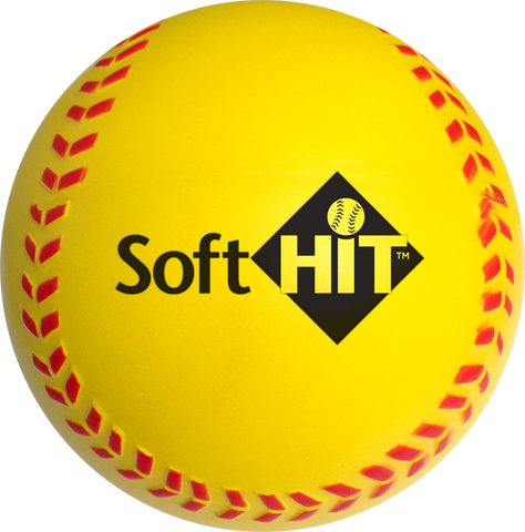 Soft HIT – Practice Softballs – Yellow (Package of 6)