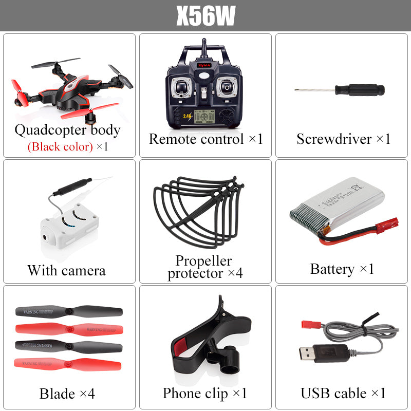 SYMA X56W Quadrocopter 0.3MP CAM Wifi Drohne