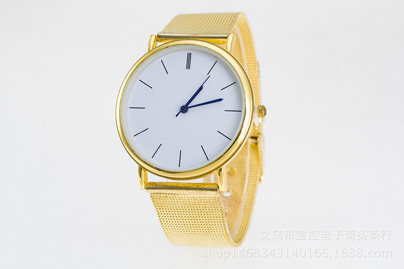 Gold luxury quartz Watch